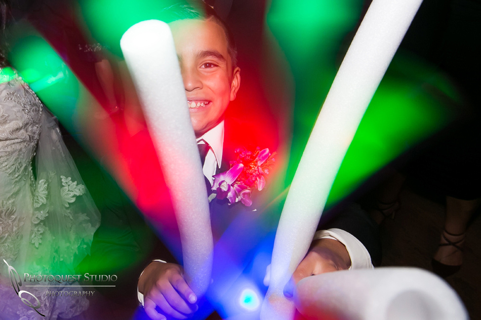 jedi glow stick dancing at wedding