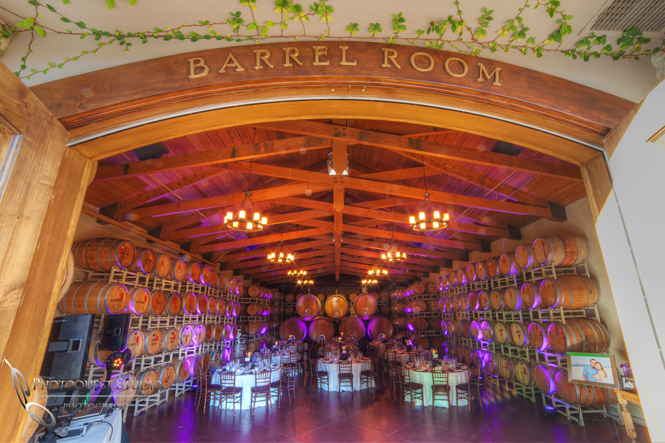 The Barrel Room  for Wedding at Ponte Winery by Temecula Photographer