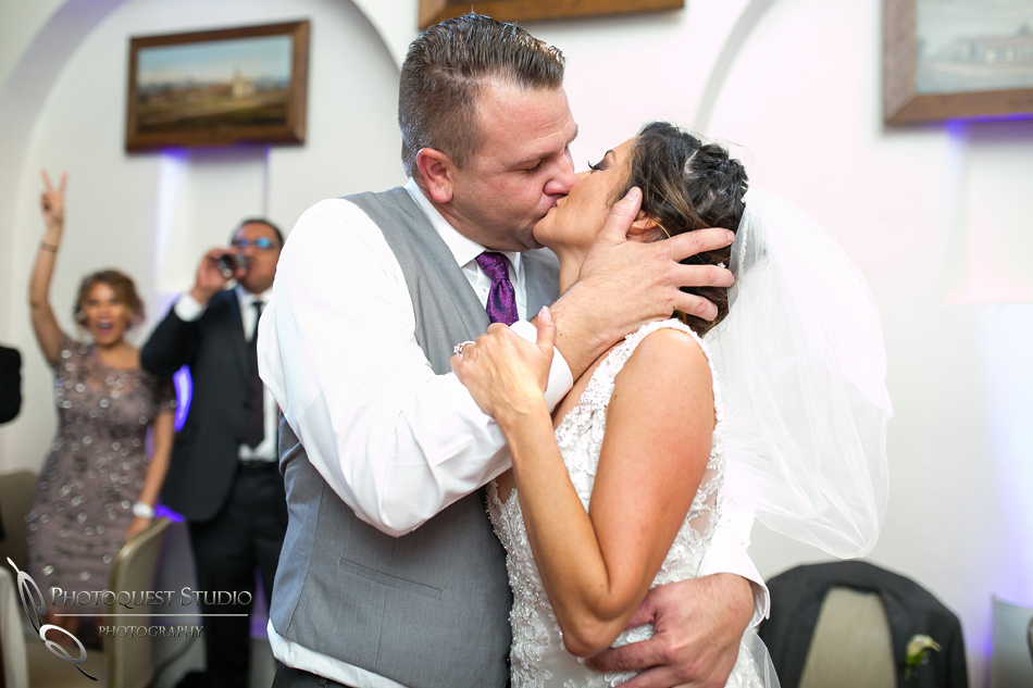 The kiss at mission inn hotel wedding