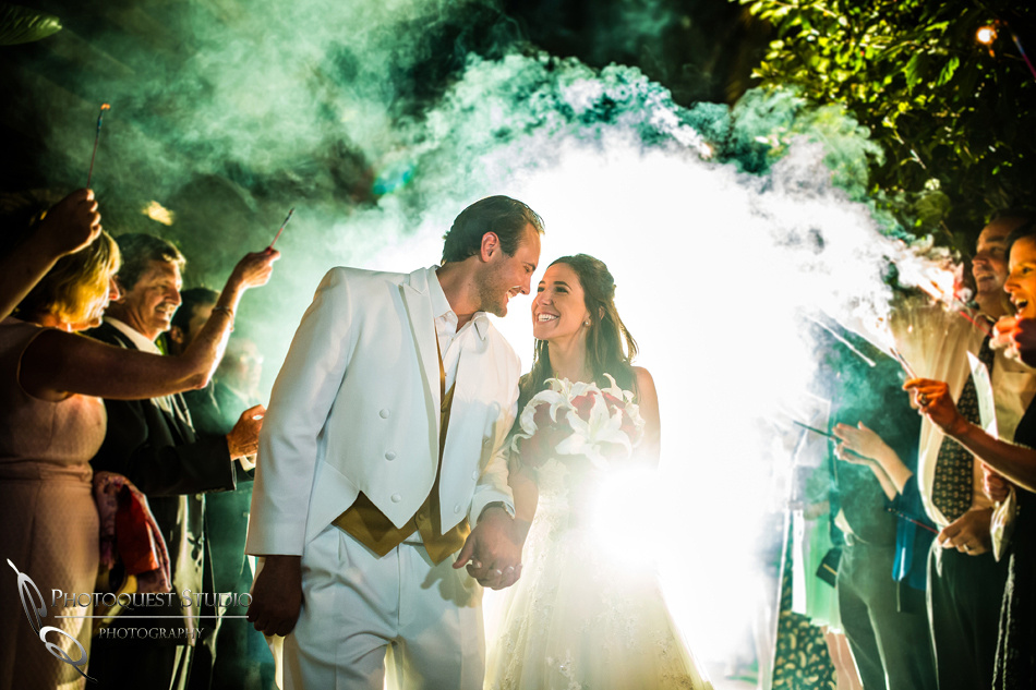 Sparklers exit at Grand Tradition Estate Fallbrook by Temecula Wedding Photographer