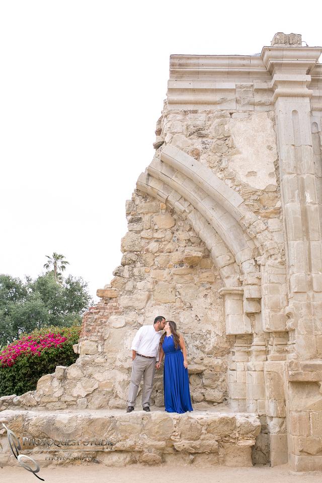the wall at San Juan Capistrano, Temecula Wedding Photographer