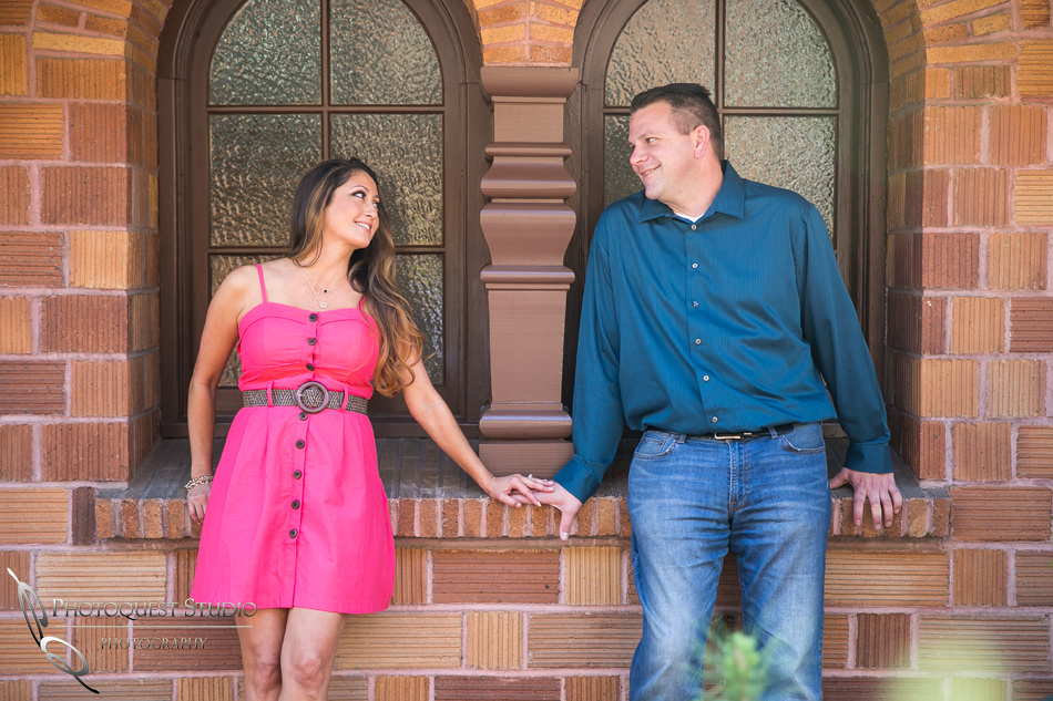 the look of love at Mission Inn Hotel engagement
