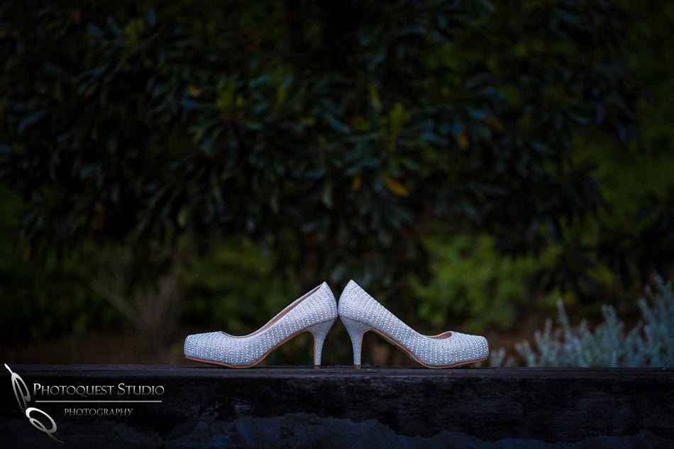 Wedding shoes by Temecula wedding photographer