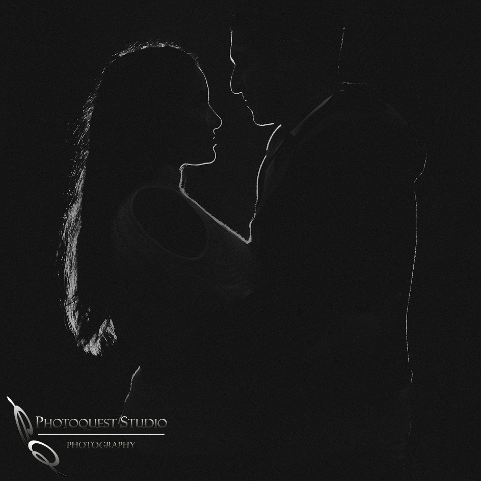 Love in the dark by Temecula wedding photographer