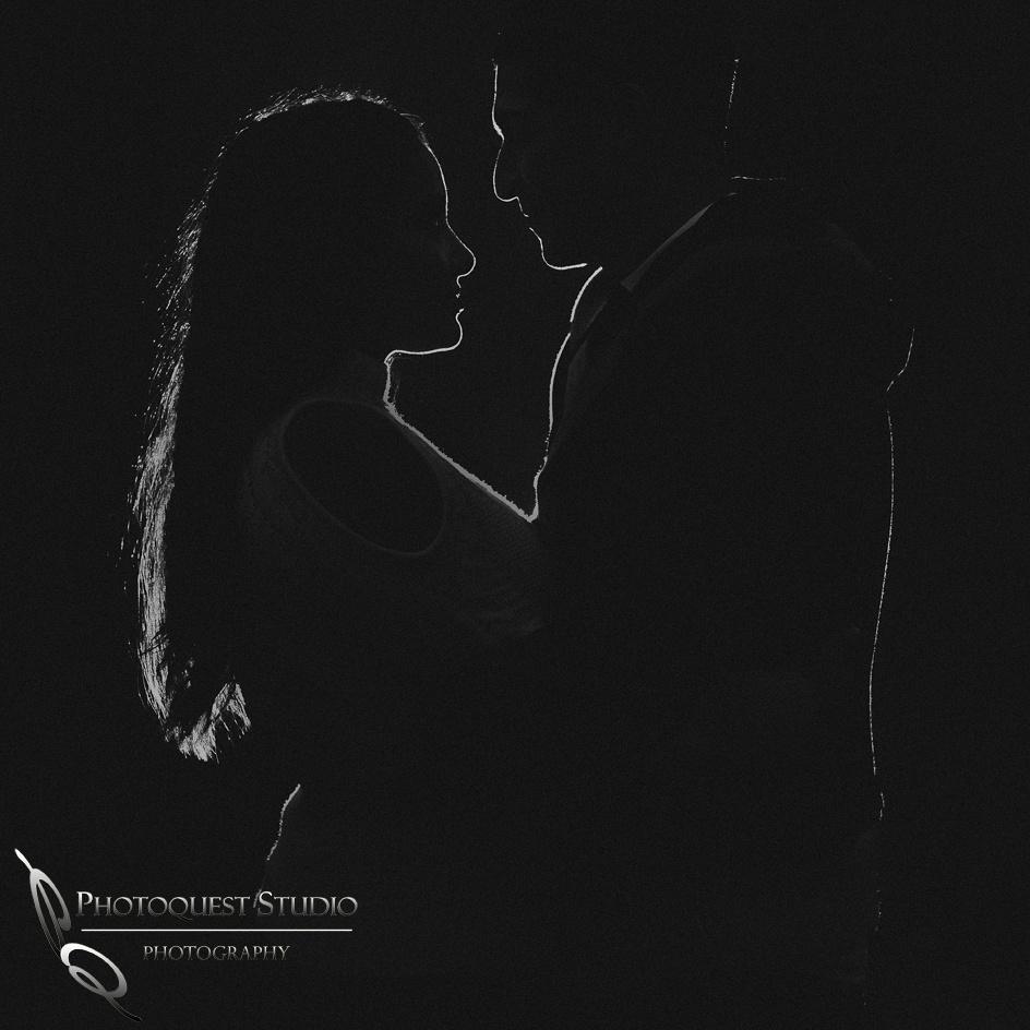 Love in the dark by Temecula wedding photographer