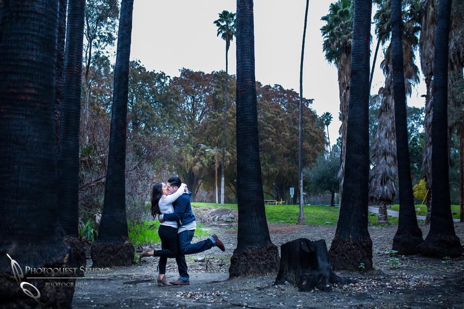 Outdoor Engagement photo by Temecula wedding photographers