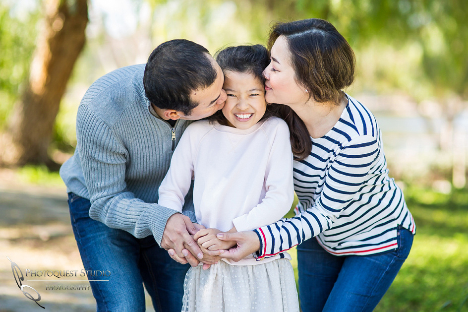 Sweet kiss, Outdoor Family Photo by Temecula, Menifee, Murrieta Wedding Photographer