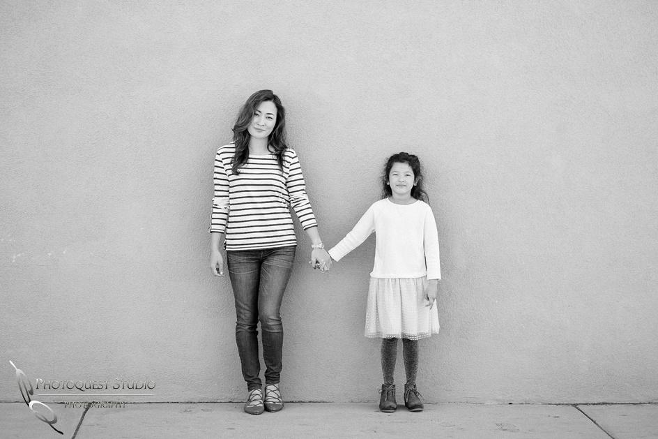 Outdoor black & white Family Photo by Temecula, Menifee, Murrieta Wedding Photographer
