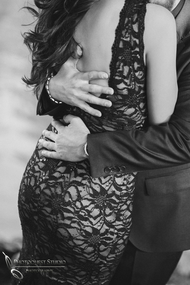 holding her inthe hands of love