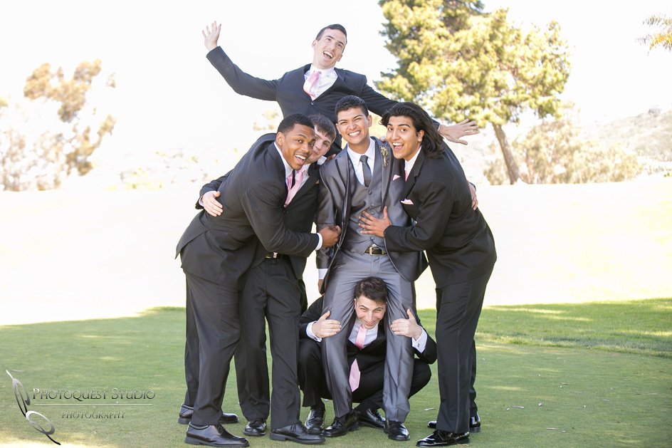 The Groom and his men having fun