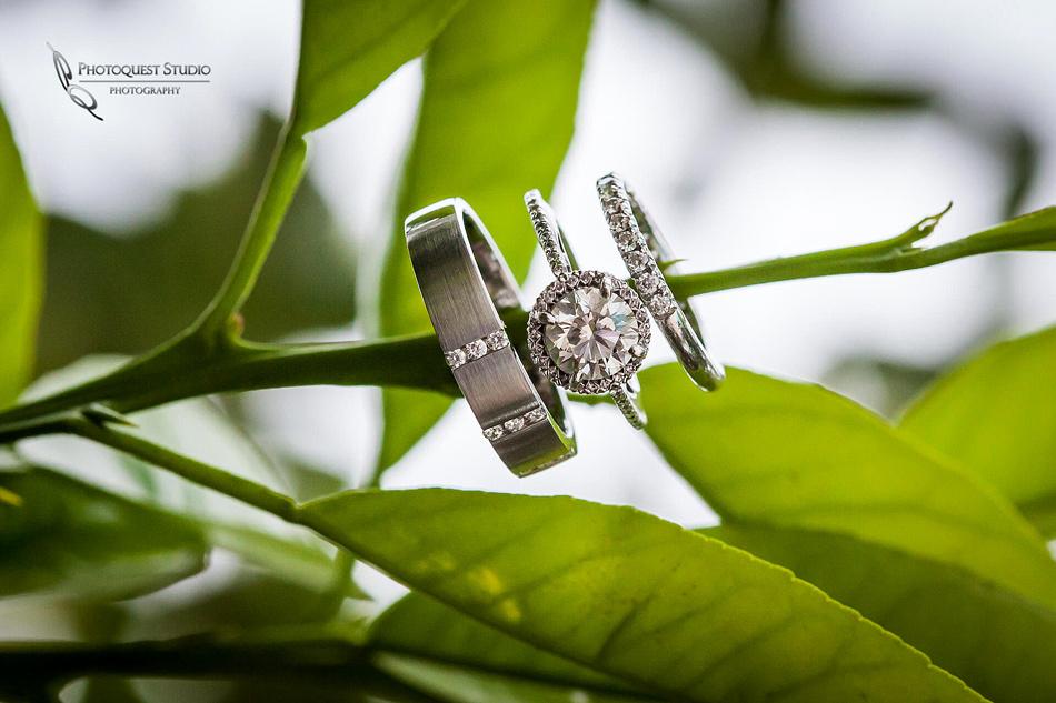 Diamond ring by wedding photographers in temecula