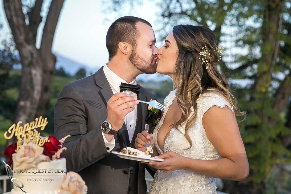 Temecula, Pomona Wedding Photographer, Cake and Kiss