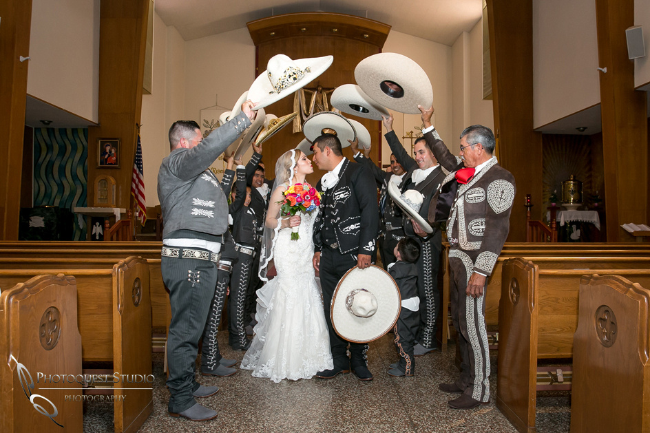 Mexican church wedding in riverside by temecula photographer