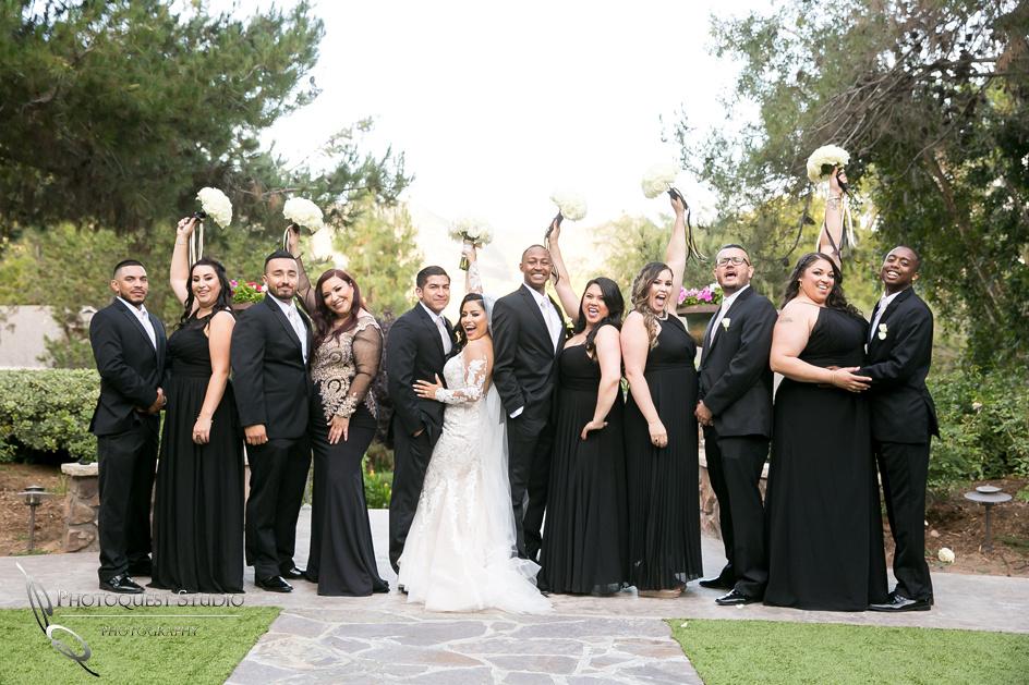 Bridal party fun, Temecula Wedding Photographer