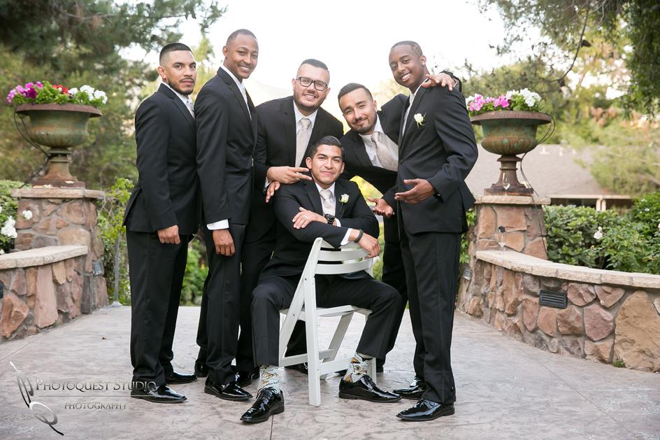 The Groom and his Men at Pala Mesa Resort, Fallbrook, San Diego, California.