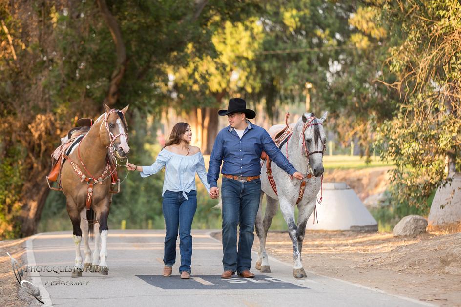 Temecula Wedding Photographer, Engagement Photo with Horses