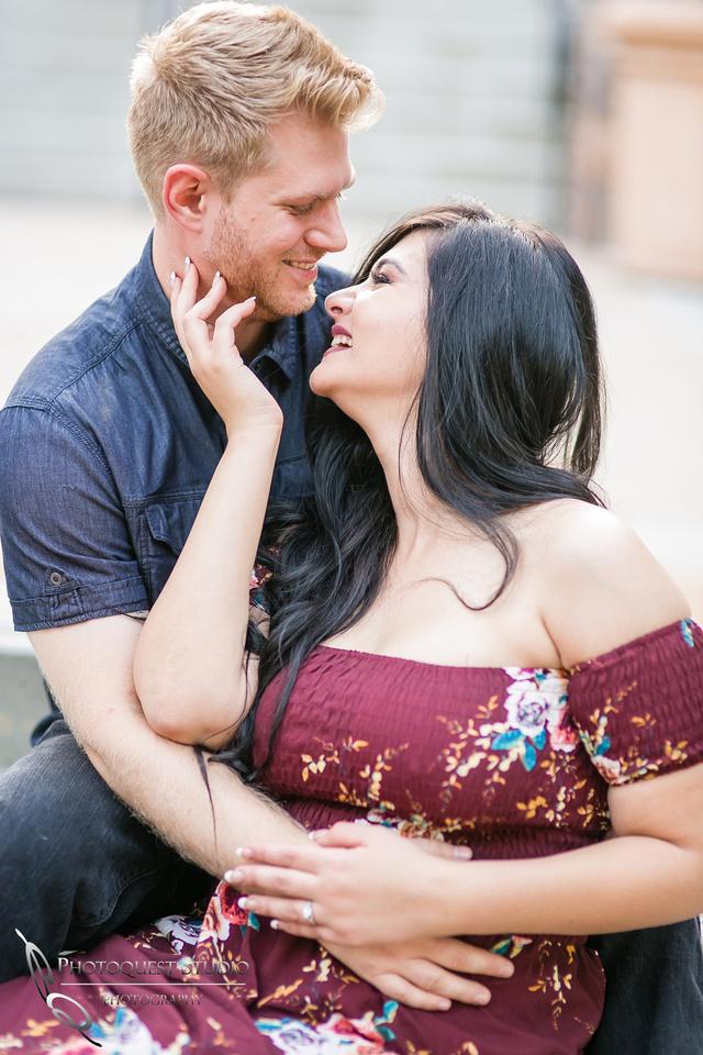 Cute love Engagement Photo at Hillcrest Park, Downtown Fullerton
