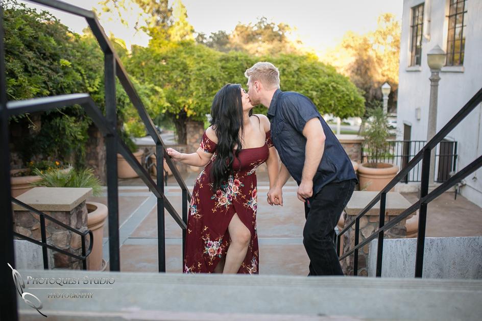 Kissing at Hillcrest Park, Downtown Fullerton