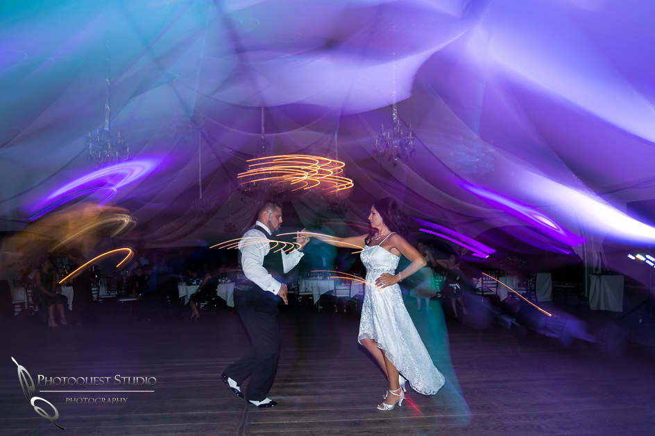 professional dancers, the bride and groom