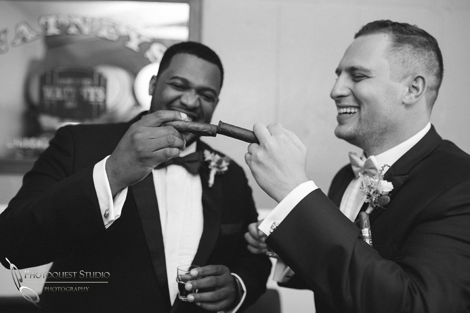 Groom and cigar time