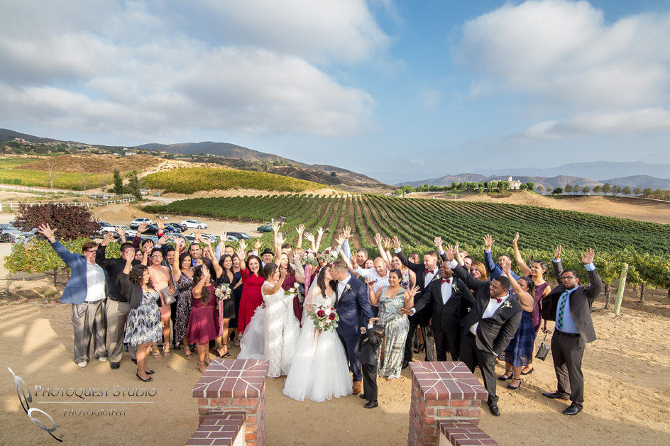 Wedding Photo at Leoness Cellars by Temecula Photographer
