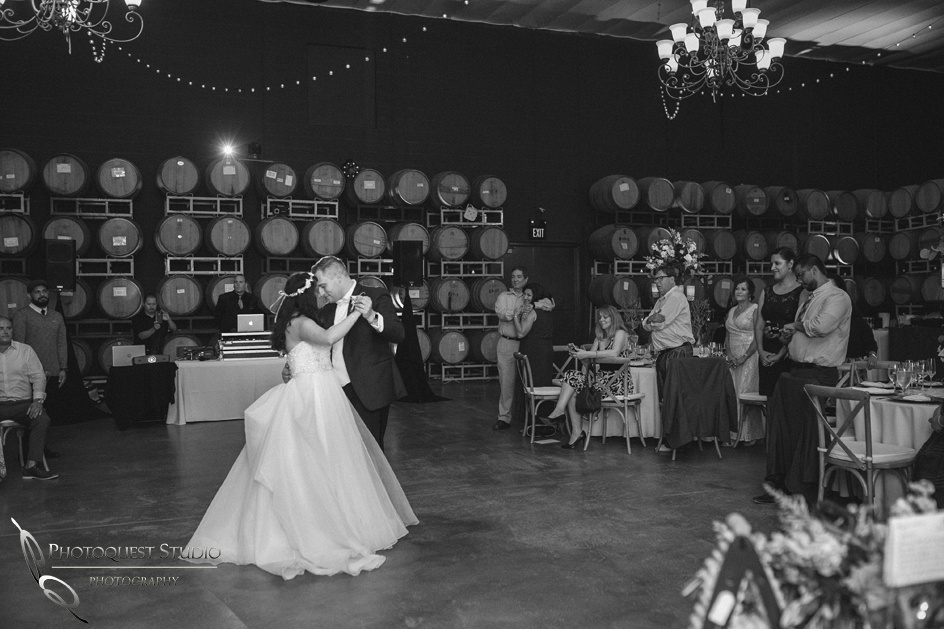 wedding first dance at Leoness Cellars