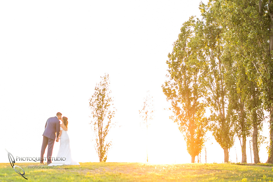 kissing at sunset by temecula wedding photographer