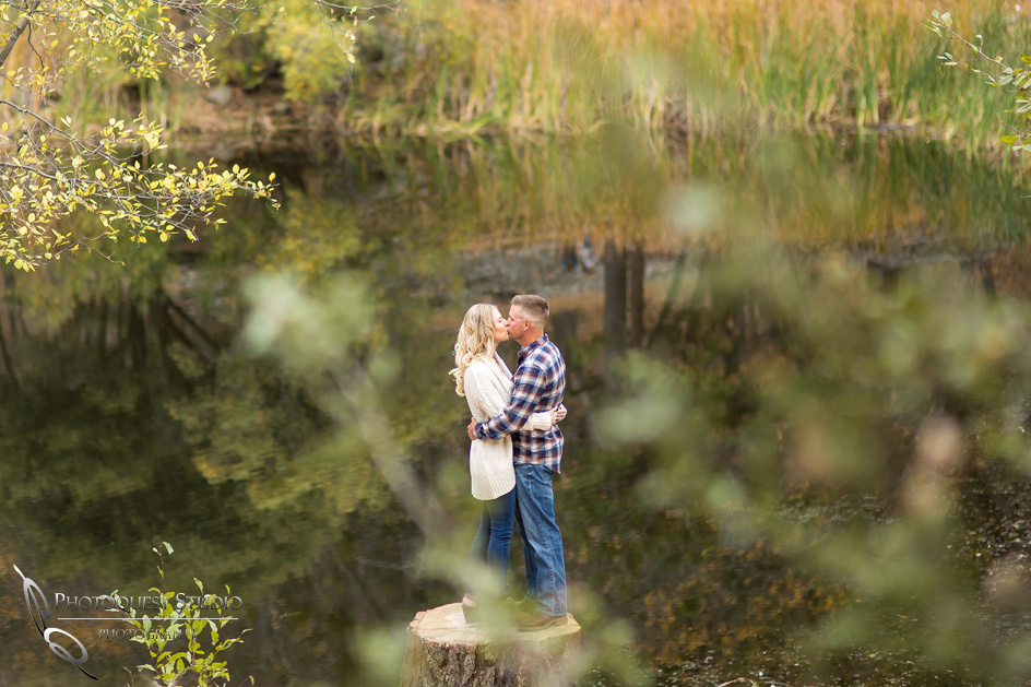 Lake Fulmor, Idyllwild Engagement Photo