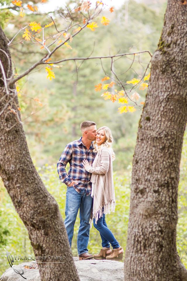 Kissing by Temecula Wedding Photographer
