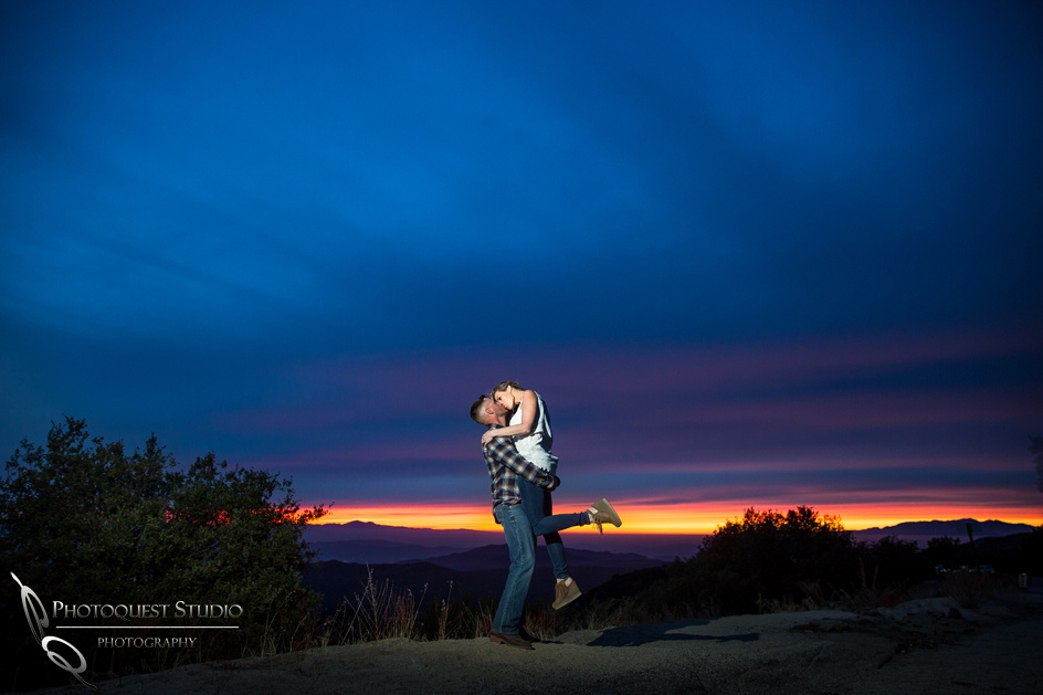 Temecula Wedding Photographer, sunset engagement photo
