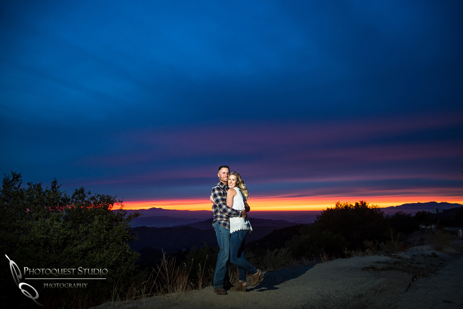 sweet love at sunset by temecula photographer