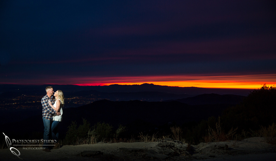 sunset with Temecula Wedding Photographer