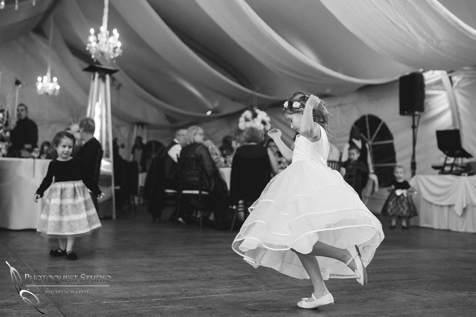 flower girl dancing, Temecula Wedding Photographer