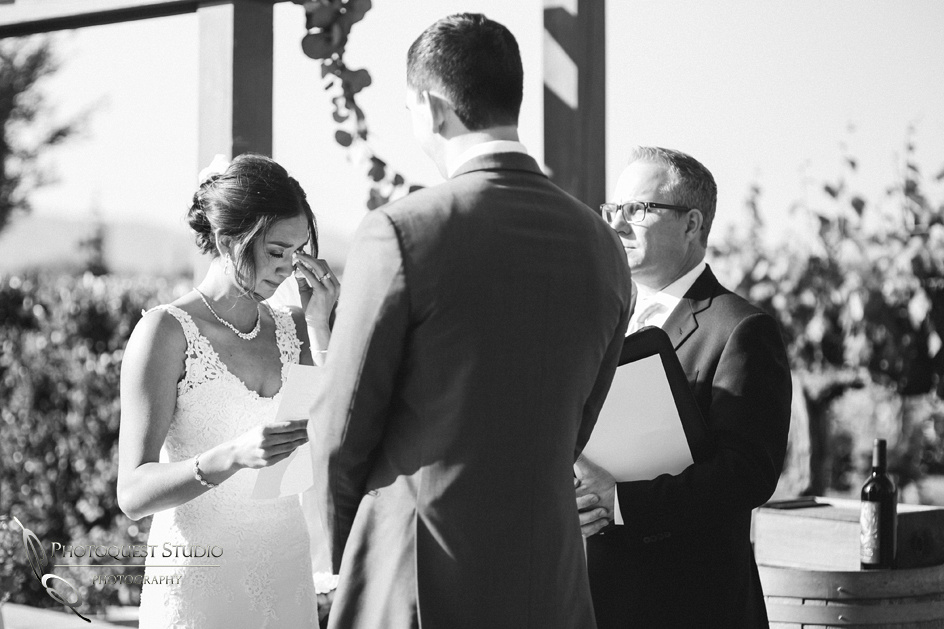 Paige cry at the Ceremony, Temecula-Wedding-Photographer