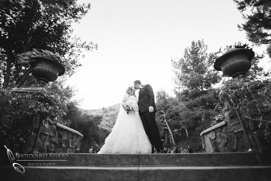 Black & white photo at Pala Mesa Resort Wedding