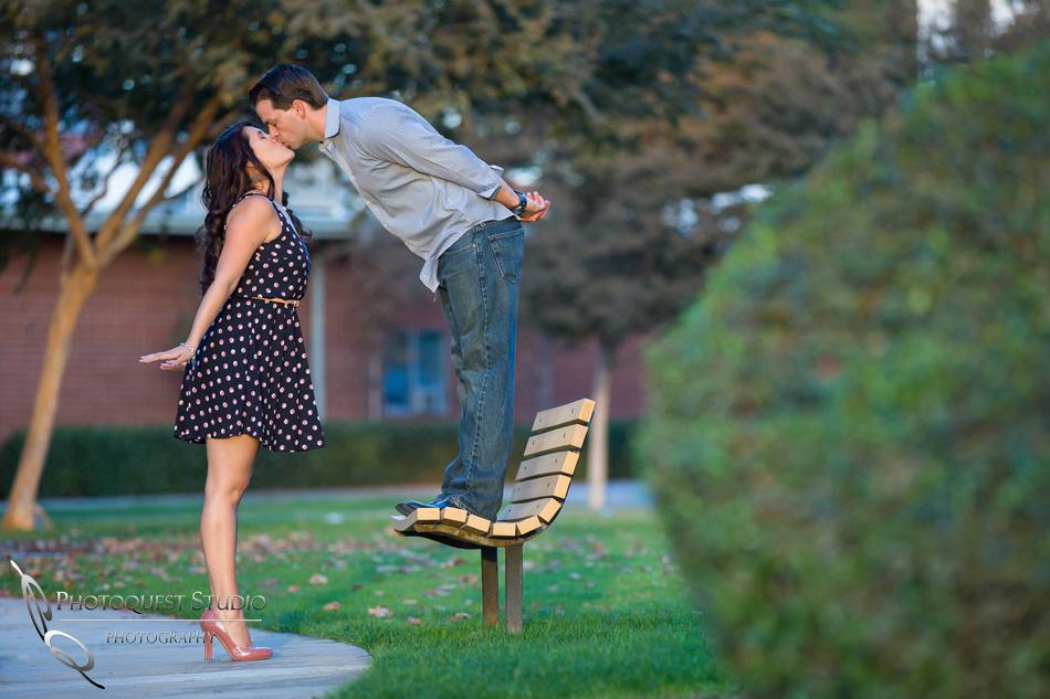 Engagement Photo at University of La Verne, Pamona, California by Temecula Wedding Photographer
