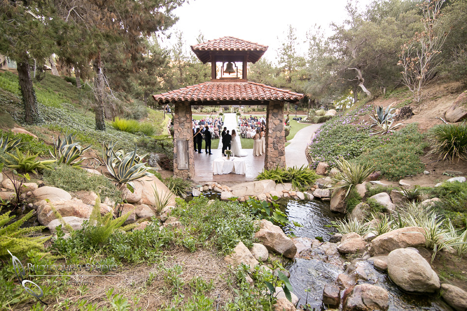 Wedding by Waterfall at Fallbrook, Temecula Wedding Photographer