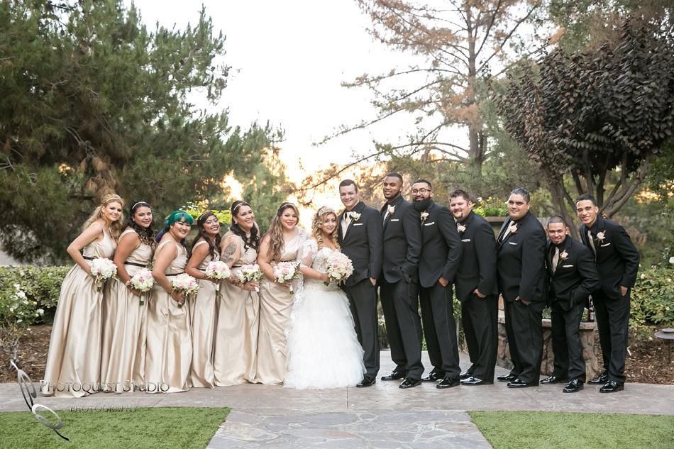 Wedding party by Fallbrook, Temecula Wedding Photographer