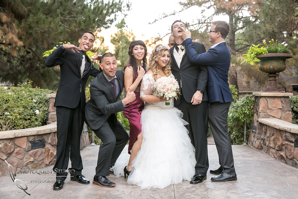 Fun photo at Pala Mesa Resort Wedding