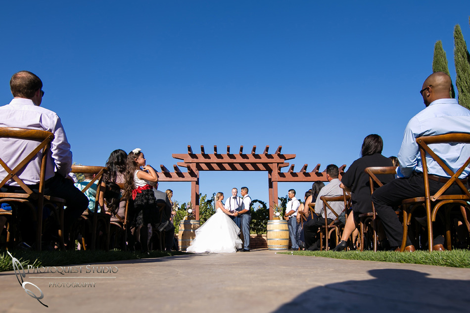 Wedding photo at Wiens Winery by Temecula wedding photographer of Photoquest Studio, Samantha & Joe (26)