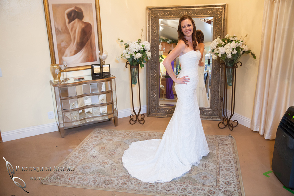 beautiful bride at Falkner winery wine wedding by temecula wedding photographer