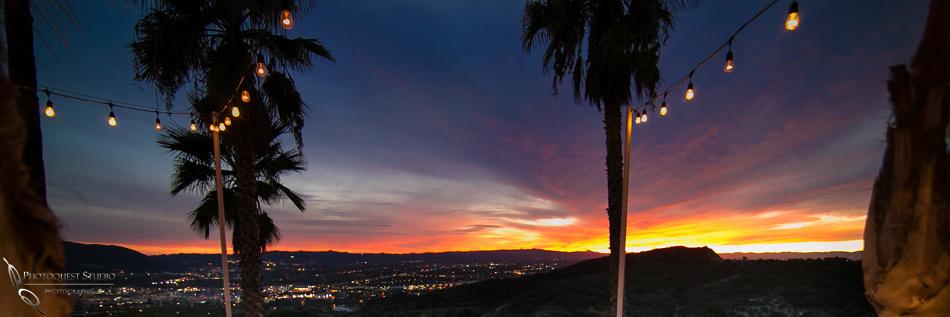 Los Angeles sunset wedding by Temecula  Wedding Photographer at Castaway Burbank