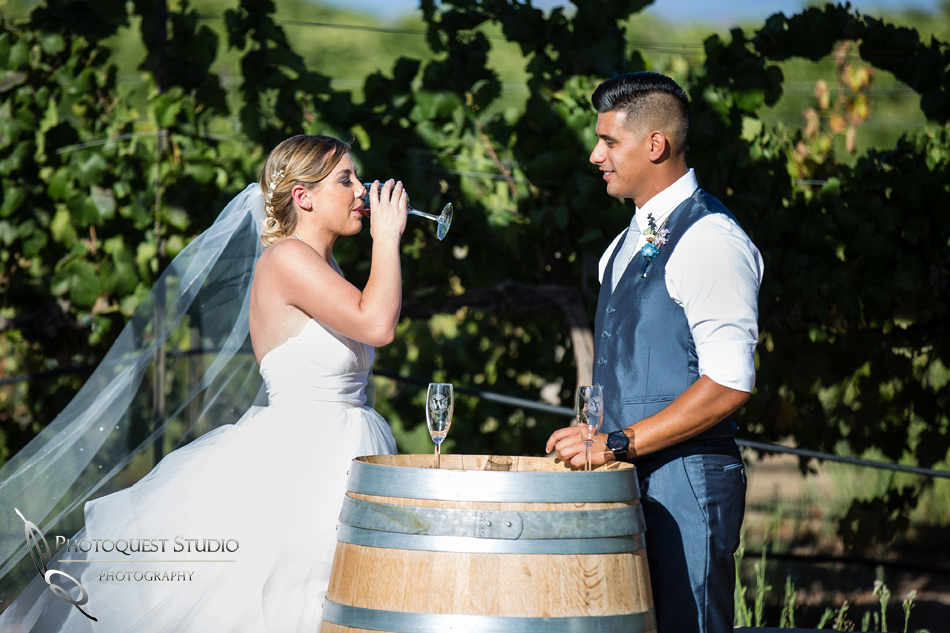 Wedding photo at Wiens Winery by Temecula wedding photographer of Photoquest Studio, Samantha & Joe (29)