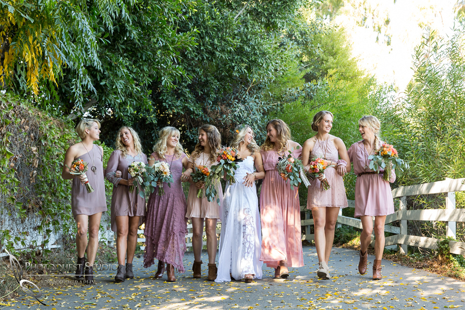 Hy Bride And Bridesmaid At Green Gables Estate San Go Premier Wedding By Temecula