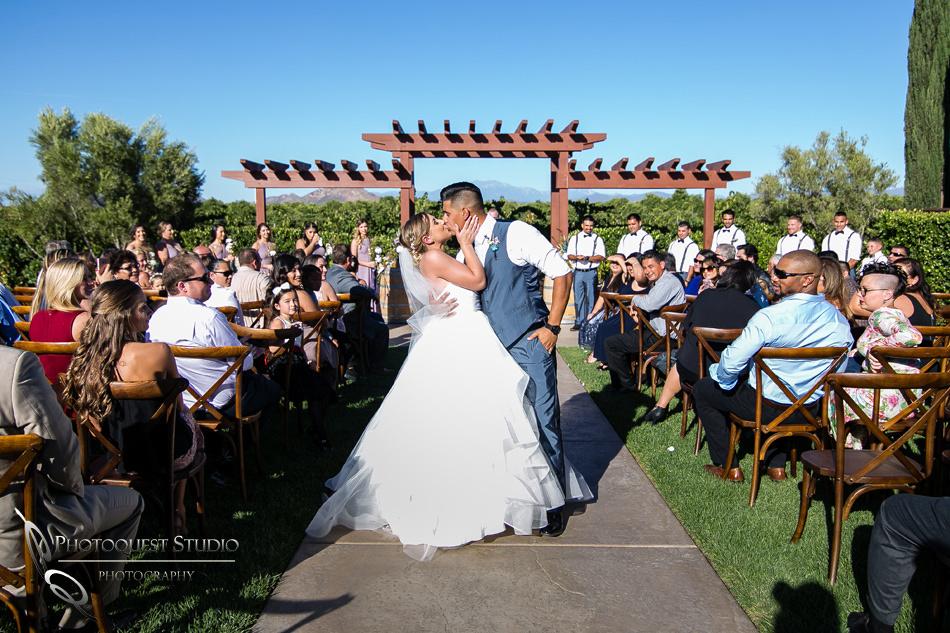 Wedding photo at Wiens Winery by Temecula wedding photographer of Photoquest Studio, Samantha & Joe (36)