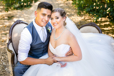 Moment after the first look at Wiens Family Cellars Temecula Winery Wedding by Temecula Wedding Photographer