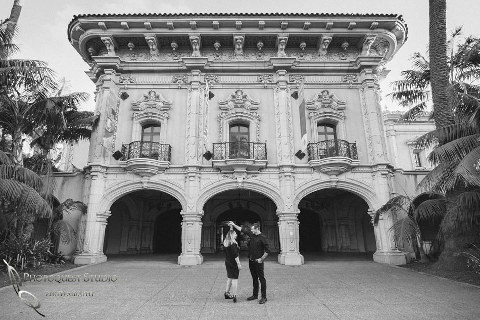 Dancing at Balboa Park, San Diego documented by Temecula, San Diego Wedding Photographer