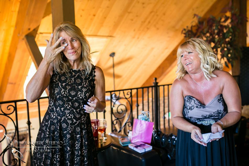 Moms cry at Wedding at Longshadow Ranch Winery