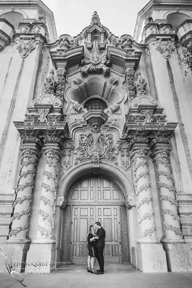 Engagement photo  at Balboa Park, San Diego by Temecula, San Diego Wedding Photographer