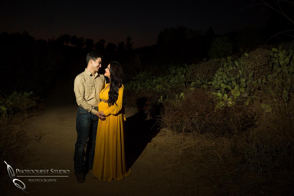 Maternity Photo after dark by Temecula Wedding Photographer